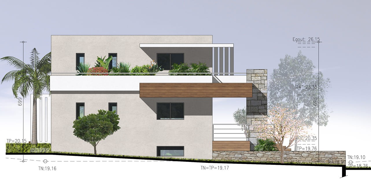 Villa, construction neuve, architecture contemporaine 2